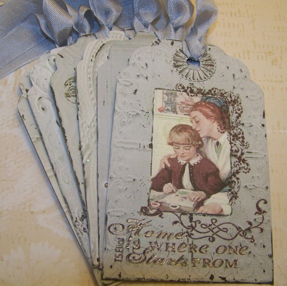 Mother's Day Tags Vintage Style Set of 6