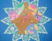 PDF Crochet Pattern- Enchanting Easter Basket Doily
