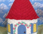 PDF Crochet Pattern- English Country Cottage Cozy or Jar Cover