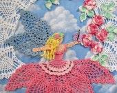 PDF Crochet Pattern- Flower Garden Fairy Doily