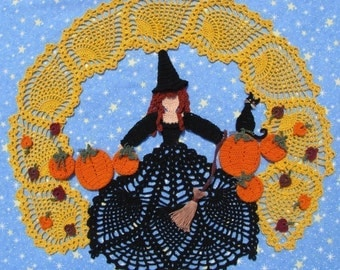 PDF Crochet Pattern- Harvest Moon Doily