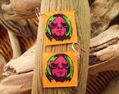 Curt Cobain Pop Art Tribute earrings