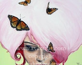 Queen of Butterflies Giclee Ltd ed (60ex) 11x11 inches