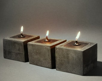COWBOY ZEN Oil Lamps - Oil Candles - Set of Three