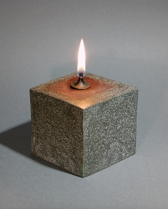 RESERVED FOR GEORGINA - One Cowboy Zen Cube Oil Lamp with Gift Box