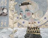 Sale: Art Nouveau Lavender Lady