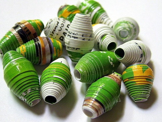 15 One-Of-A-Kind Junk Mail Beads