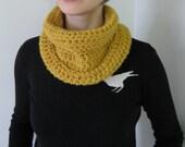 SALE fashion meet function mustard cowl