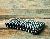 1960s Adorable Vintage Wood Beaded Clutch