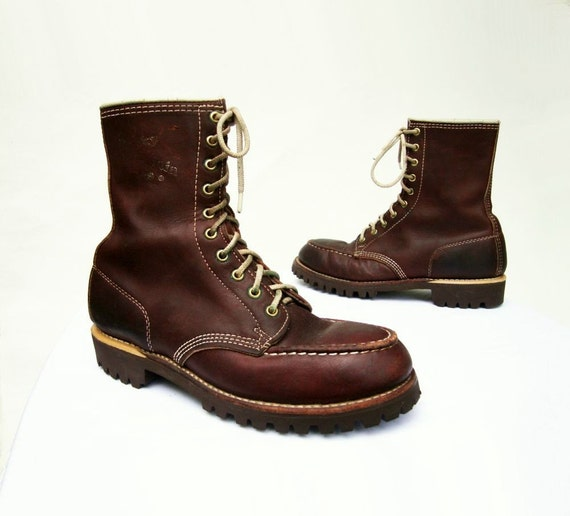 1970s Vintage Rocky Mountain Gorilla Work Boots By