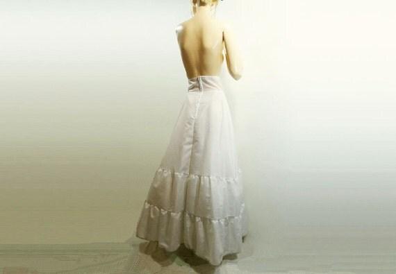Vintage Crinoline Bridal 1980s Wedding White Long Full Slip Size Small