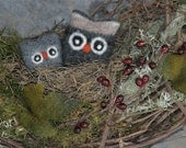 Woodland Owl Grapevine Wreath... Made to order (woolcrazy)