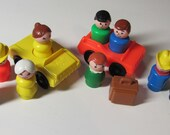 Vintage FISHER PRICE Little People and Cars