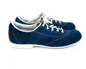 Vintage blue suede lace up tennis shoes 7