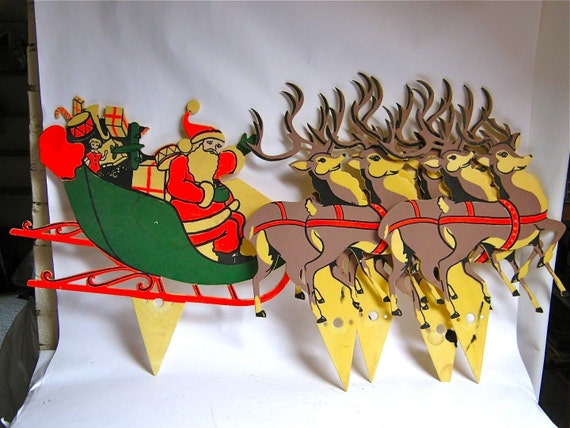 Vintage 1950s Christmas Painted Plastic By Dirtybirdiesvintage