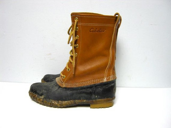 Vintage tall leather Cabela's winter duck boots
