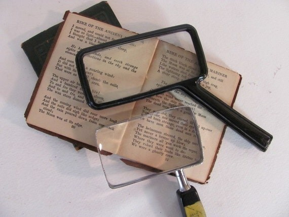 Instant Collection .. 2 pair of Black Magnifying Glasses
