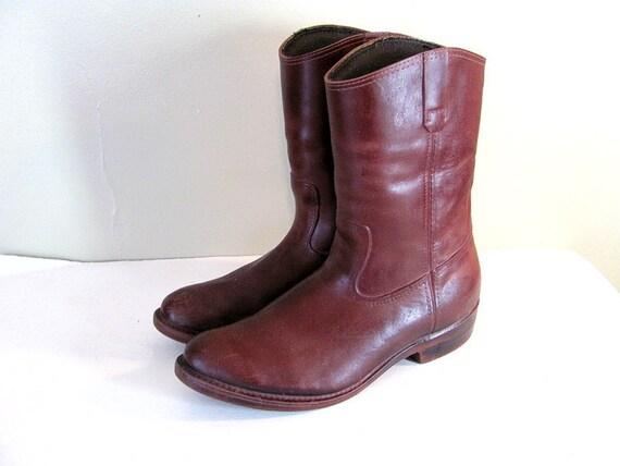 Vintage La Crosse Rubber Cowboy boots / Rain Boots mens size