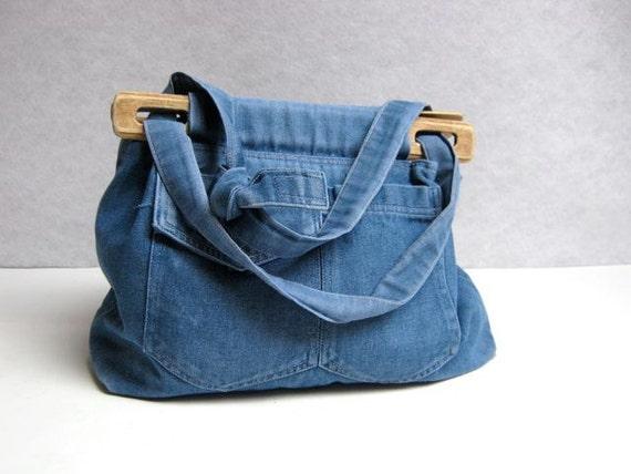 vintage denim jean purse