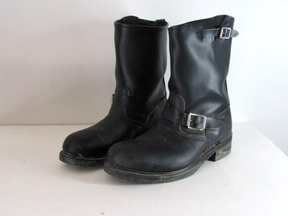 Vintage Brahma Engineer Motorcycle Harness Boots Sz 10.5 Mens