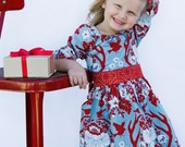 Holiday 2010.... Vintage Deer Holdiay Dress - 6m, 12m, 18m, 2t, 3t, 4t, 5, 6