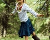Girls Gracie Denim Twirl Skirt
