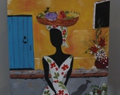 Cartagena painting on canvas. Original painting. Colombia