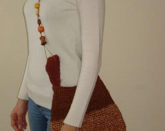 Knitted jute bag