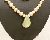 Large Fresh Water Pearl Necklace and Bracelet