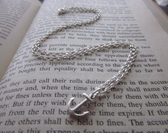 The Elsie Necklace - Sterling Silver Anchor Necklace