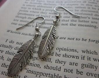 The Muriel Earrings - Metal Feather Earrings