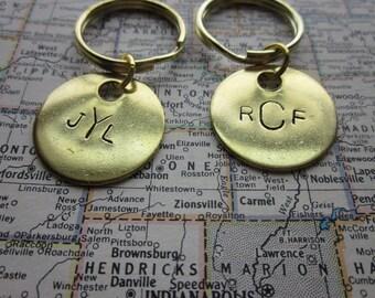The Norman Key Chain - CUSTOM Initials, Monogram, or Message Key Chain - Brass