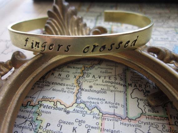 The Lucy Bracelet - Custom Hand Stamped Cuff Bracelet