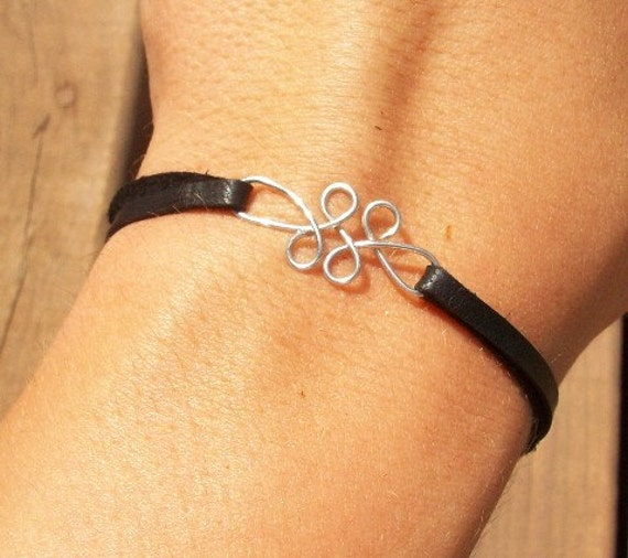 Release - Twisted Wire and Leather Bracelet