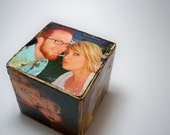 Custom-Made Distressed Picture Blocks, Great Christmas Gift
