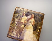 Custom-Made Distressed Picture Blocks, Wedding Gift