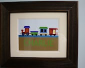Personalized Train Name Art  Child's Room or Nursery Decoration
