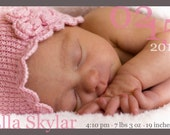 Modern Double Sided Birth Announcement