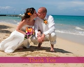 Simple Wedding Photo Thank You cards- Double-sided