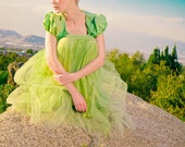 1940's Kelly Green Prom Dress- very cupcake