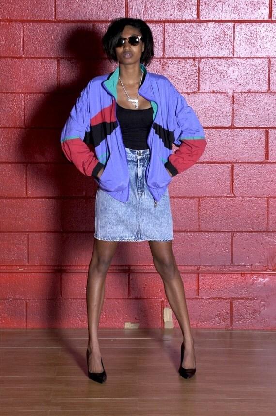 VINTAGE - RBG and Purple Nylon Jacket