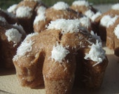 Gourmet Dog Treats - Snowflake Cakes - All Natural Organic Vegetarian Hand Ground Peanut Butter Dog Treats