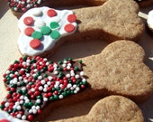 Gourmet Holiday Dog Treats - Holiday Bones - Organic Dog Treats All Natural Vegetarian - - Shorty's Gourmet Treats