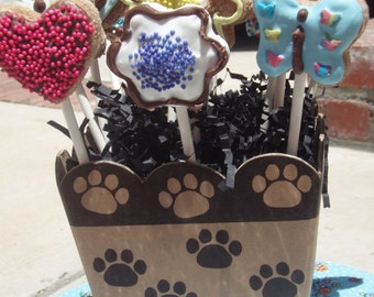 Organic Dog Treats - Lollipup Bouquet - Gourmet Dog Treats All Natural Vegetarian - Shorty's Gourmet Treats