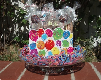 Gourmet Dog Treats - Birthday Bash Gift Basket - Dog Treats Organic All Natural Gourmet Vegetarian - Shorty's Gourmet Treats