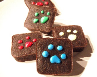 Organic Dog Treats - Pawlishious Brownies - Carob Dog Treats All Natural Organic Vegetarian - Shorty's Gourmet Treats