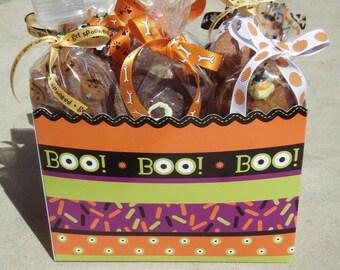 Happy Halloween Gift  Basket -  Dog Treats All Natural Gourmet Vegetarian - Shorty's Gourmet Treats