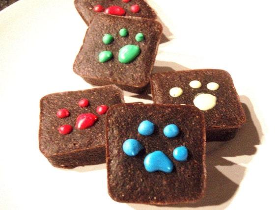 Organic Dog Treats - Pawlishious Brownies - Carob Dog Treats All Natural Organic Vegetarian - Shorty's Gourmet Treats