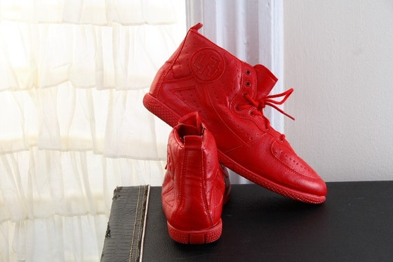 80s/90s Red Hip Hop High Tops size 7.5 / 8