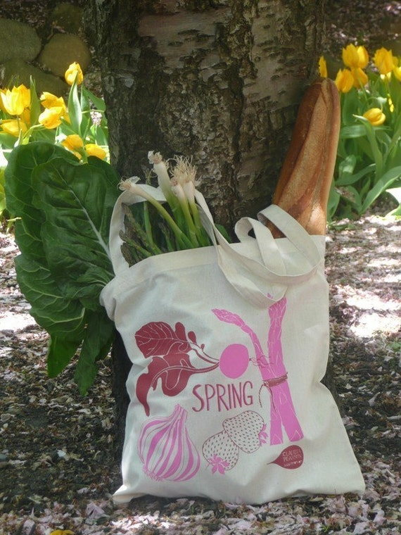 Spring Tote Bag (natural)